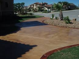 Pea Gravel And Epoxy Patio by Stamped Concrete Driveways Ideas Best Stamped Concrete Vs Pavers