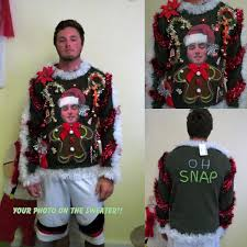 ugly christmas sweater with lights custom your photo sweater light up tacky ugly christmas