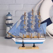 boat decor for home wooden ship model miniatur marine wood maritime boat nautical