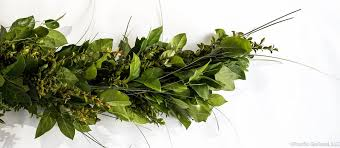 fresh salal green huck grass premium garland by pacific