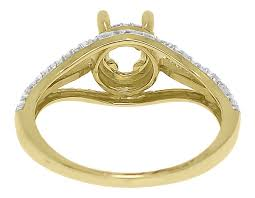 semi mount engagement rings 14k yellow gold semi mount solitaire halo
