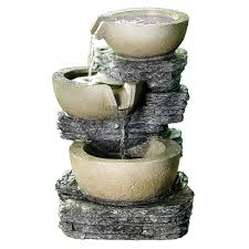 12 in resin stepping 3 bowl tabletop fountain at home at home