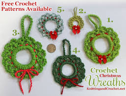 5 ways to crochet a wreath knitting and crochet