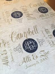 personalized wedding blankets large blankets wedding