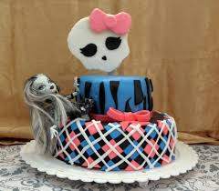 monster high decorations with a small ghost doll whose long hair