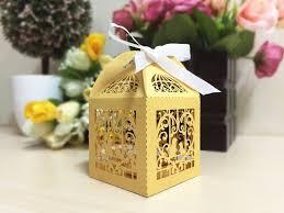 ospiti la gabbia gabbia di uccello di carta oro wedding bar scatole per gli
