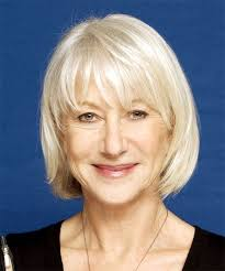 platinum hairstyles for older women helen mirren medium straight casual hairstyle light blonde