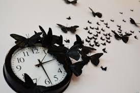 Weird Wall Clocks by Diy Time Flies Butterfly Clock Huffpost