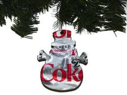 recycled pop can ornaments pepsi snowman ornament