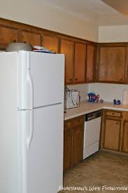 Bedroom Hide Small Refrigerator Remodelaholic Small White Kitchen Makeover With Built In Fridge