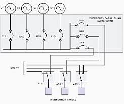 schematic of circuit for standby generators energy and power