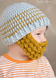 crochet bobble beard pattern multiple sizes ashlee marie
