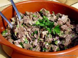 salade de viande de pot au feu en vinaigrette