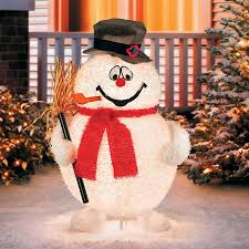 snowman decorations lighted frosty the snowman outdoor christmas decoration improvements