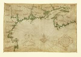 New France Map by Description Of The Coasts Points Harbours And Islands Of New