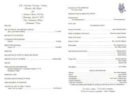 traditional wedding program wording wedding program ideas to go for 21st bridal world wedding