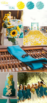 teal wedding 7 yellow wedding color combination ideas to