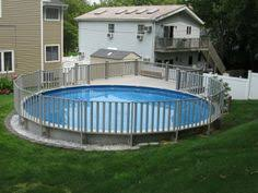 18x33 semi inground pool with deck brothers 3 pools aboveground
