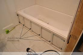 How To Build A Frame Around A Bathroom Mirror Diy Tub Skirt Decorative Side Panel For A Standard Apron Side