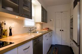 countertops small galley kitchen design butcher block countertops