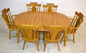 leaf dining table u0026 6 chairs made in yugoslavia