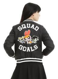 Cartoon Network Powerpuff Girls Bomber Jacket Topic