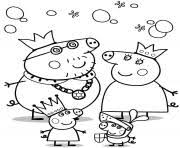 peppa pig family coloring pages printable