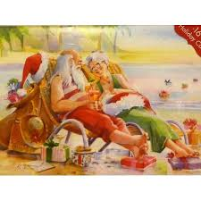 paper magic santa u0026 mrs claus relaxing on the beach christmas