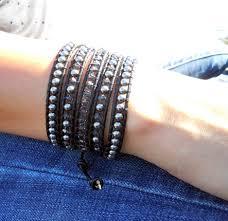 swarovski crystal leather bracelet images Swarovski crystal pearl leather wrap bracelets onsra designer jpg