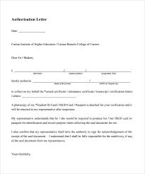 example of authorization letter 7 download download in word pdf