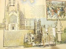 canterbury cathedral floor plan national geographic society wall map of medieval england u0026 british