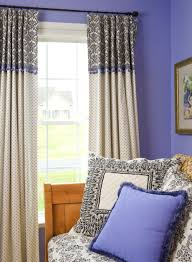 Two Tone Living Room Walls by Fancy Two Tone Curtain Covering White Stained Wooden Frame French