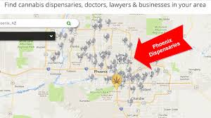 Phoenix Area Zip Code Map by Phoenix Dispensaries Are Lighting Up The Desert Green