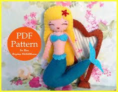 mermaids harp shell bed felt doll pdf