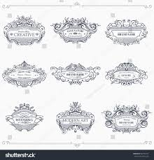 collection vintage patterns flourishes calligraphic ornaments