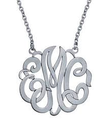 script monogram necklace small 15mm 3 letter script monogram necklace