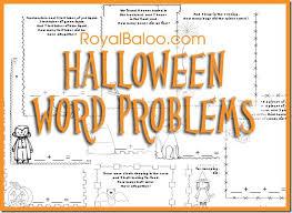 number names worksheets halloween math word problems worksheets
