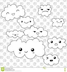 cute clouds coloring page stock vector image 71738503