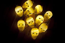 free stock photo 12783 cluster of ghostly glowing yellow skull