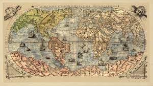 antique map world wallpaper