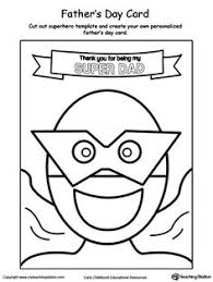 father u0027s day card superhero mask worksheets superhero and masking