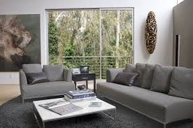 Grey Sofa What Colour Walls by Living Room Long White Window Curtains Mixed With Hidden Lamps
