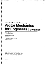 vector mechanics dynamics f beer u0026 e russel 5th edition