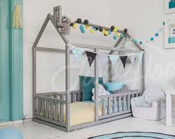 Floor Bed Frame Toddler Floor Bed Etsy