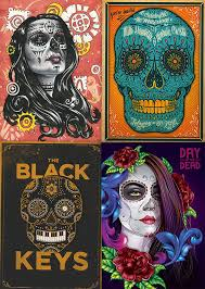 60 beautiful day of the dead inspired designs artworks