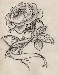 heart and flowers tattoo get 2 of these w the ribbons intertwining together to make a