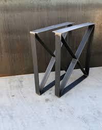 U Shaped Bar Table Flat Bar Legs Steelimpression