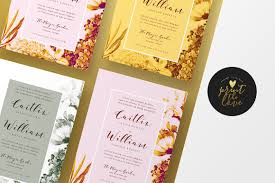 wedding invitation caitlyn invitation templates creative market