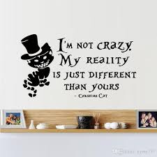 sale alice in wonderland wall sticker cheshire cat quotes