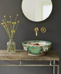 bowl sink bohemian bathroom washroom pinterest bohemian
